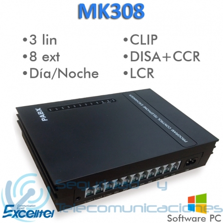 Centralita Telefónica Excelltel MK308P