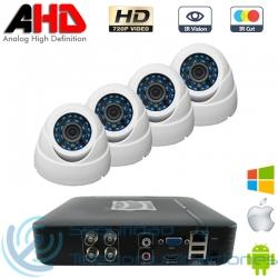 DVR 4ch + 4 Cámaras Interior AHD 720p