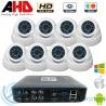 DVR 8ch + 8 Cámaras Interior AHD 720p