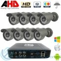 DVR 8ch + 8 Cámaras Exterior AHD 720p