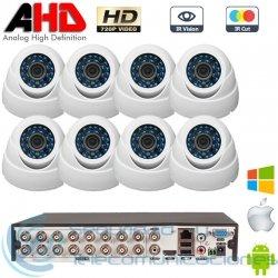 DVR 16ch + 8 Cámaras Interior AHD 720p