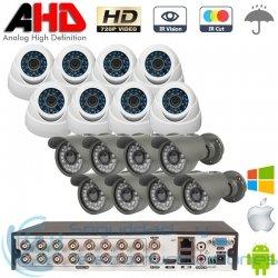 DVR AHD 720p 16ch + 8 Cámaras Interior + 8 Cámaras Exterior