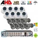 DVR 16ch + 8 CAM Interior + 8 CAM Exterior AHD 720p