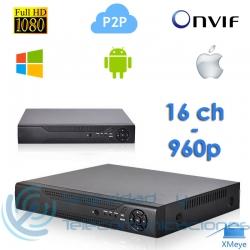 Grabador Digital NVR Tribrido AHD H.264 (16 canales)