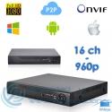 Grabador NVR Tribrido AHD H.264 (16 canales)