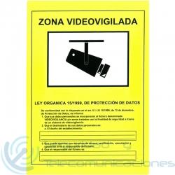 Cartel PVC Zona Videovigilada CCTV