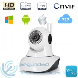 Cámara Interior HD IP-WiFi PTZ para Alarma