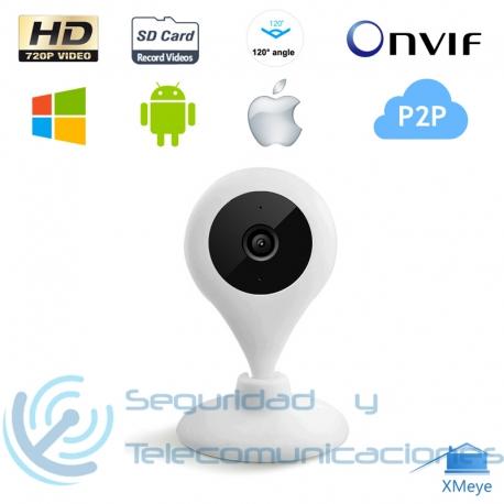 Cámara Interior HD IP-WiFi Gran Angular