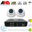 DVR 4ch + 2 Cámaras Interior AHD 720p