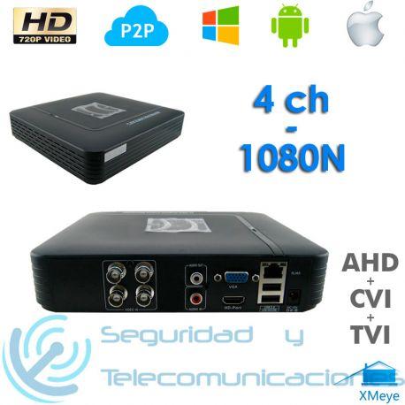 Grabador Digital DVR Tribrido AHD H.264 (4 canales)