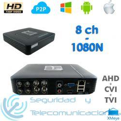 Grabador DVR 8ch Tribrido AHD CVI TVI