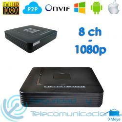 Grabador IP NVR 8ch ONVIF