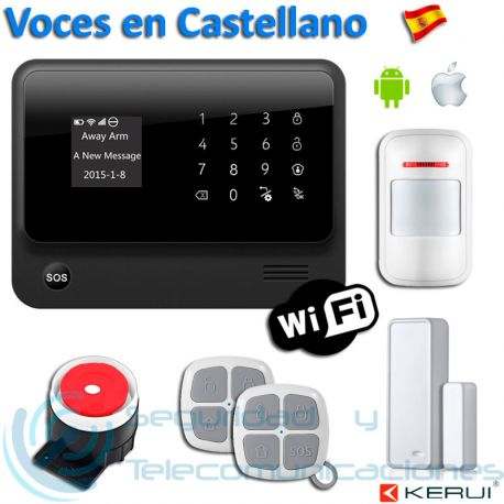 Kit Alarma WiFi-GSM App G90B PLUS