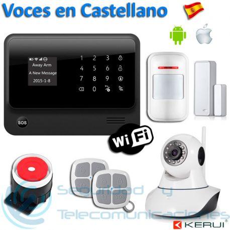 Kit Alarma WiFi-GSM G90B Plus + Cámara PTZ
