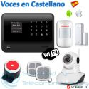 Kit Alarma WiFi-GSM G90B Plus + Cámara PTZ