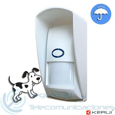 Sensor Inalámbrico PIR Exterior Inmune a Mascotas