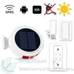 Kit Alarma GSM GPRS solar Autónoma App