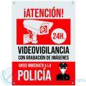 Cartel PVC Aviso Policía