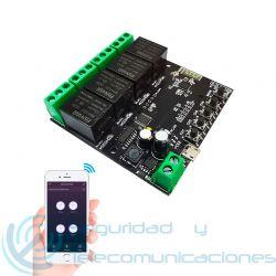 Relé 4 canales WiFi Tuya SmartLife