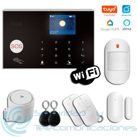 Kit Alarma WiFi-GSM App Tuya SmartLife
