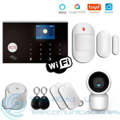 Kit Alarma GSM-WiFi Tuya SmartLife + Cámara PTZ