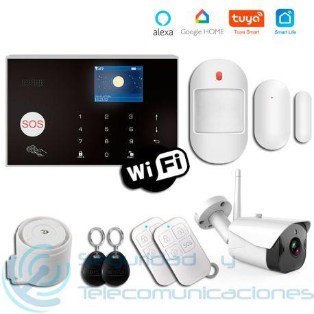 Kit Alarma GSM-WiFi Tuya SmartLife + Cámara Exterior