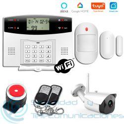 Kit Alarma GSM-PSTN App + Cámara Exterior