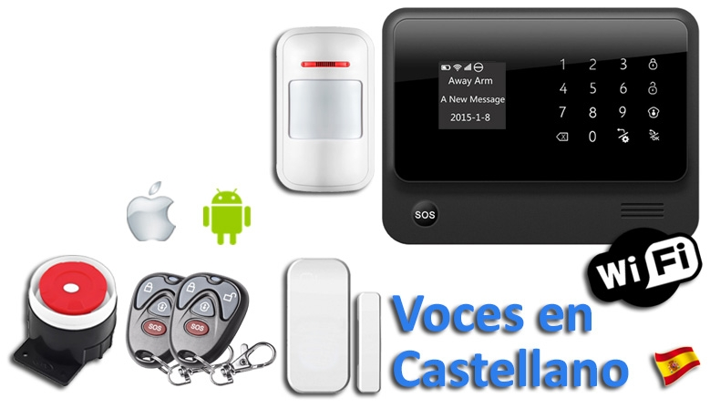 Kit Alarma WiFi-GSM App
